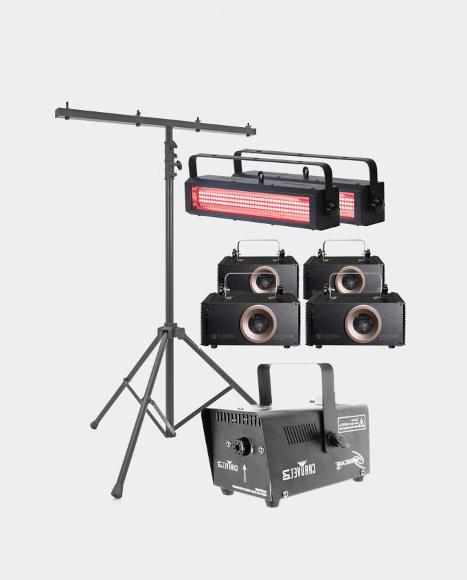 Leie Medium Lyspakke - Laser / Strobe / Røykmaskin