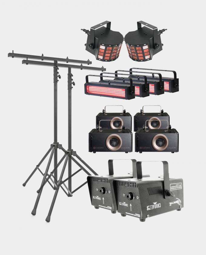 Leie Stor Lyspakke - Laser / Strobe / Røykmaskin / Hybrid Laser
