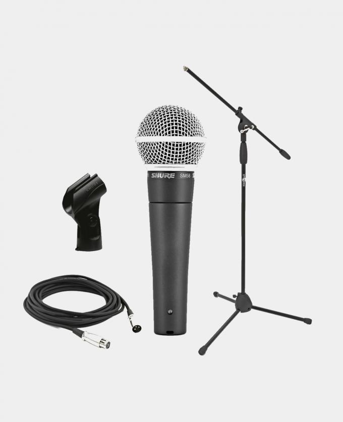 Leie Proff Mikrofon Shure SM58 med stativ (Kablet)